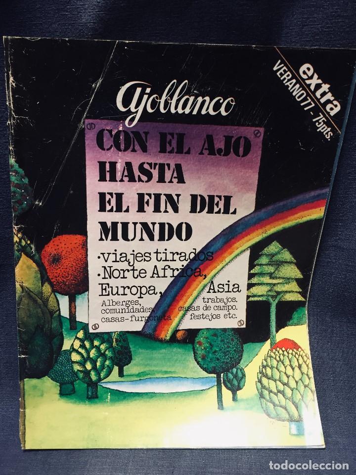 Coleccionismo de Revistas y Periódicos: 9 revistas mensual ajoblanco encuentro difusión contracultura españa año 1977 1978 - Foto 14 - 193985167