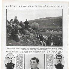 Coleccionismo de Revistas y Periódicos: 1910 HOJA REVISTA LA MANCHA MANZANARES BANDOLERO RAMÓN CLEMENTE GUARDIA CIVIL ASESINADO A. HORNERO. Lote 194193391