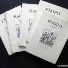 Coleccionismo de Revistas y Periódicos: ESOPO. REVISTA TRIMESTRAL DE BIBLIOFILIA - 5 NÚMEROS (1-5) - JULIO OLLERO EDITOR - 1991-1992 . Lote 194214563