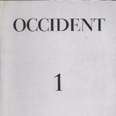 Coleccionismo de Revistas y Periódicos: OCCIDENT 1 MAIG DE 1949.21X15CM. 80 P.. Lote 194220738