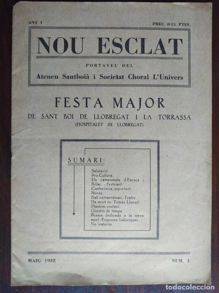 REVISTA ANY I Nº1, NOU ESCLAT 1932 FESTA MAJOR ATENEU SANTBOIA SOCIE L´UNIVERS SANT BOI DE LLOBREGAT (Coleccionismo - Revistas y Periódicos Antiguos (hasta 1.939))