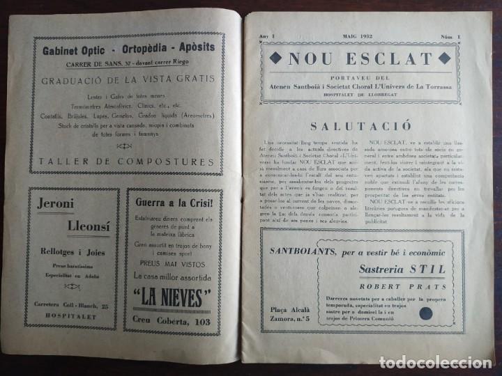 Coleccionismo de Revistas y Periódicos: Revista Any I nº1, Nou Esclat 1932 Festa Major Ateneu Santboia socie l´univers Sant Boi de Llobregat - Foto 2 - 194227313