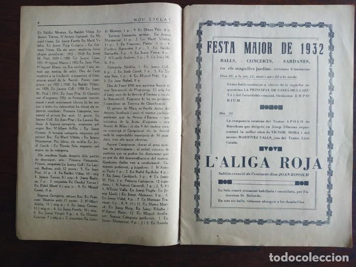 Coleccionismo de Revistas y Periódicos: Revista Any I nº1, Nou Esclat 1932 Festa Major Ateneu Santboia socie l´univers Sant Boi de Llobregat - Foto 4 - 194227313