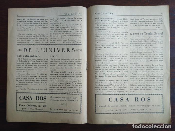 Coleccionismo de Revistas y Periódicos: Revista Any I nº1, Nou Esclat 1932 Festa Major Ateneu Santboia socie l´univers Sant Boi de Llobregat - Foto 7 - 194227313