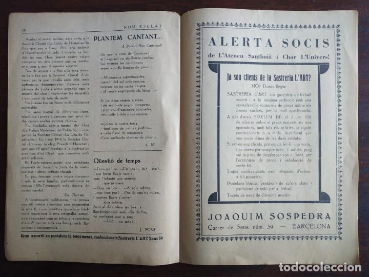 Coleccionismo de Revistas y Periódicos: Revista Any I nº1, Nou Esclat 1932 Festa Major Ateneu Santboia socie l´univers Sant Boi de Llobregat - Foto 8 - 194227313