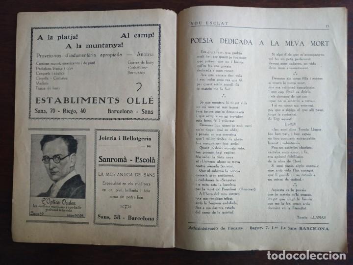 Coleccionismo de Revistas y Periódicos: Revista Any I nº1, Nou Esclat 1932 Festa Major Ateneu Santboia socie l´univers Sant Boi de Llobregat - Foto 9 - 194227313