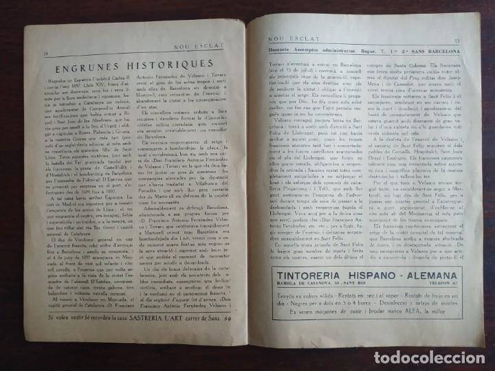 Coleccionismo de Revistas y Periódicos: Revista Any I nº1, Nou Esclat 1932 Festa Major Ateneu Santboia socie l´univers Sant Boi de Llobregat - Foto 10 - 194227313