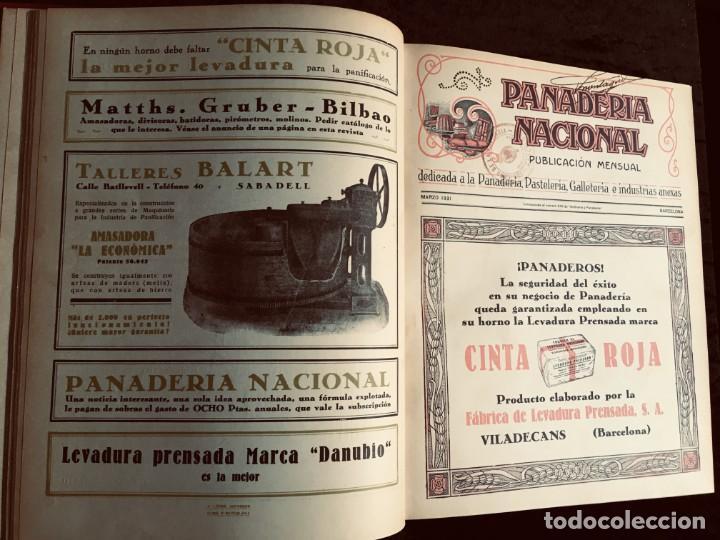 PANADERIA NACIONAL - AÑO 1931 COMPLETO - PAN - HORNOS - AMASADORAS - LEVADURA - PASTELERÍA (Coleccionismo - Revistas y Periódicos Antiguos (hasta 1.939))
