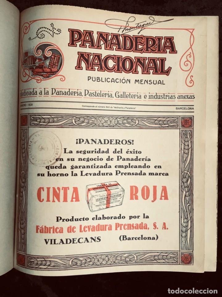 Coleccionismo de Revistas y Periódicos: PANADERIA NACIONAL - AÑO 1931 COMPLETO - PAN - HORNOS - AMASADORAS - LEVADURA - PASTELERÍA - Foto 2 - 194229515