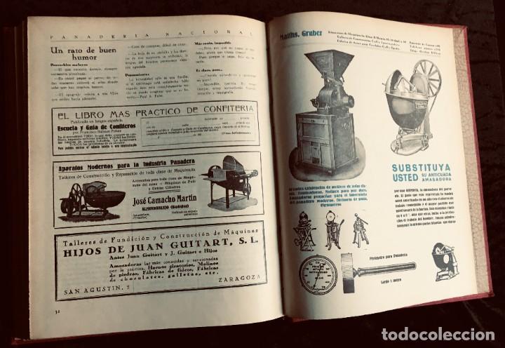 Coleccionismo de Revistas y Periódicos: PANADERIA NACIONAL - AÑO 1931 COMPLETO - PAN - HORNOS - AMASADORAS - LEVADURA - PASTELERÍA - Foto 4 - 194229515