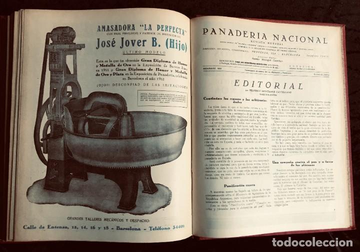 Coleccionismo de Revistas y Periódicos: PANADERIA NACIONAL - AÑO 1931 COMPLETO - PAN - HORNOS - AMASADORAS - LEVADURA - PASTELERÍA - Foto 5 - 194229515