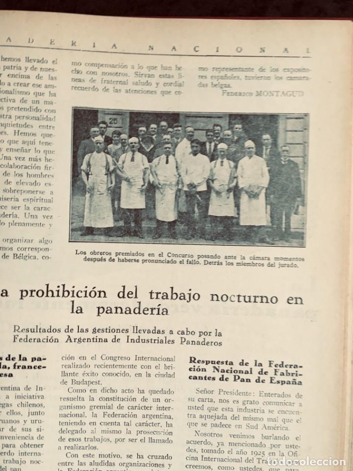 Coleccionismo de Revistas y Periódicos: PANADERIA NACIONAL - AÑO 1931 COMPLETO - PAN - HORNOS - AMASADORAS - LEVADURA - PASTELERÍA - Foto 8 - 194229515