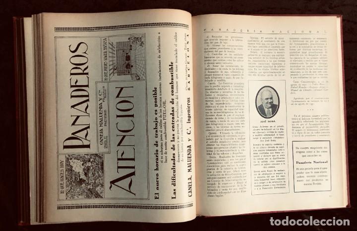 Coleccionismo de Revistas y Periódicos: PANADERIA NACIONAL - AÑO 1931 COMPLETO - PAN - HORNOS - AMASADORAS - LEVADURA - PASTELERÍA - Foto 9 - 194229515