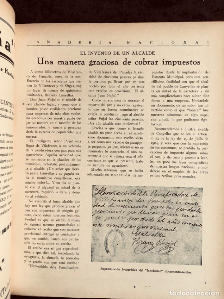 Coleccionismo de Revistas y Periódicos: PANADERIA NACIONAL - AÑO 1931 COMPLETO - PAN - HORNOS - AMASADORAS - LEVADURA - PASTELERÍA - Foto 17 - 194229515