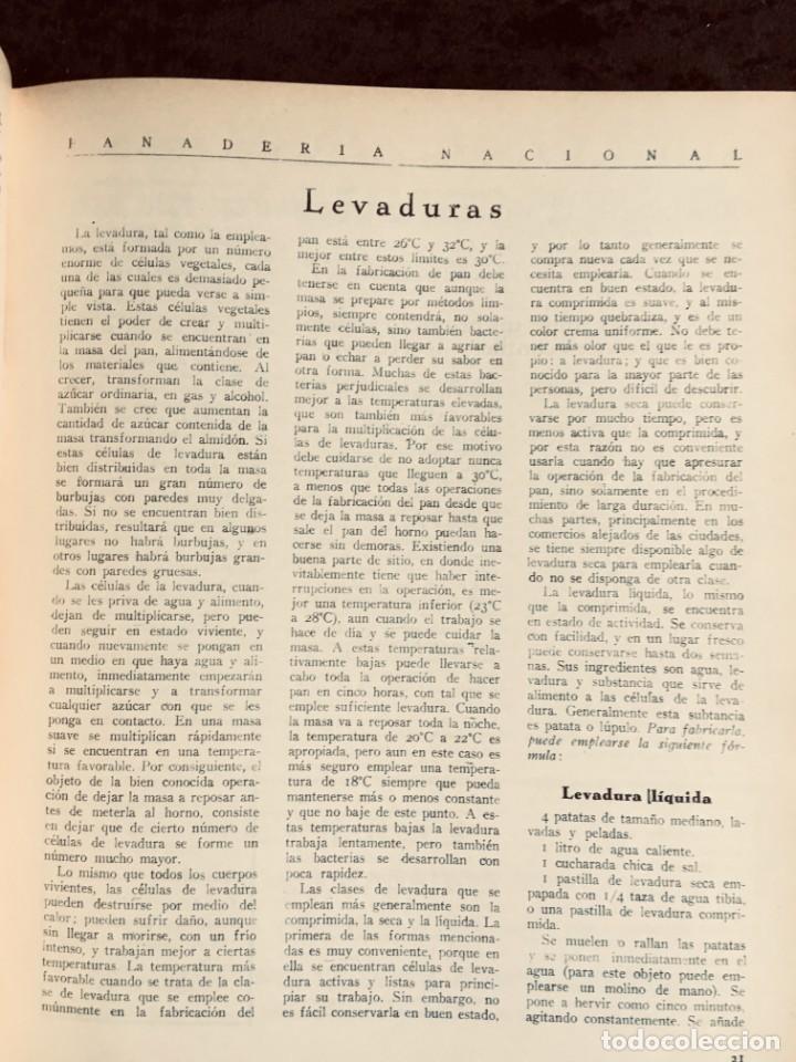 Coleccionismo de Revistas y Periódicos: PANADERIA NACIONAL - AÑO 1931 COMPLETO - PAN - HORNOS - AMASADORAS - LEVADURA - PASTELERÍA - Foto 19 - 194229515