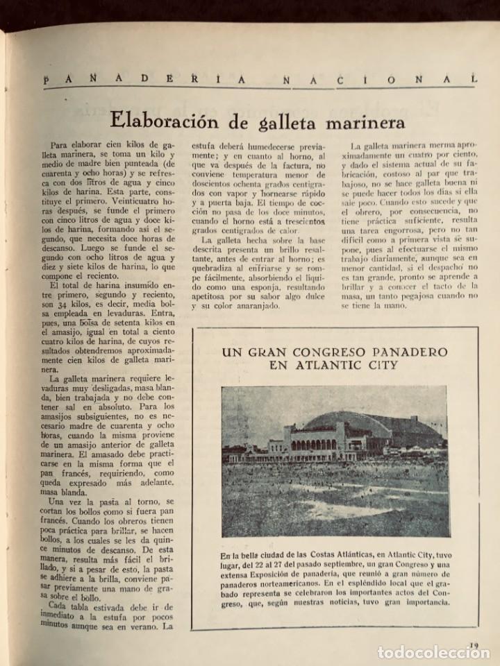 Coleccionismo de Revistas y Periódicos: PANADERIA NACIONAL - AÑO 1931 COMPLETO - PAN - HORNOS - AMASADORAS - LEVADURA - PASTELERÍA - Foto 23 - 194229515