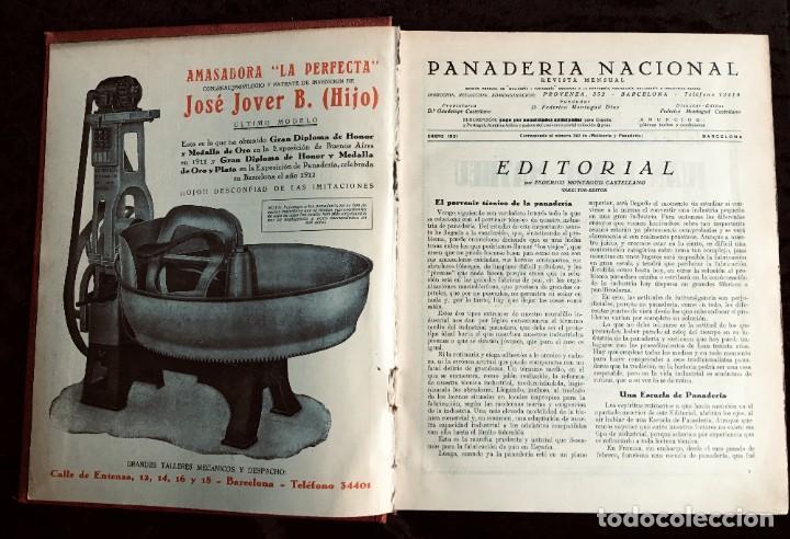 Coleccionismo de Revistas y Periódicos: PANADERIA NACIONAL - AÑO 1931 COMPLETO - PAN - HORNOS - AMASADORAS - LEVADURA - PASTELERÍA - Foto 24 - 194229515