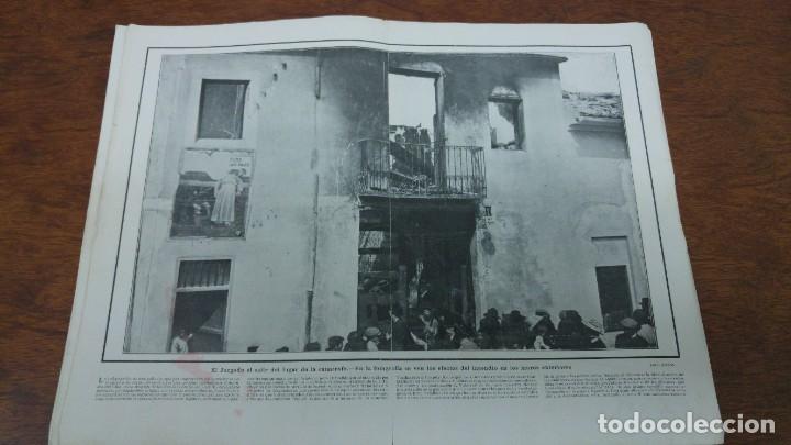 66 MUERTOS CINE VILLAREAL ABANICOS FLORES GIBRALTAR MALAGA MENENDEZ PELAYO ENTIERRO SANTANDER 1912 (Coleccionismo - Revistas y Periódicos Antiguos (hasta 1.939))