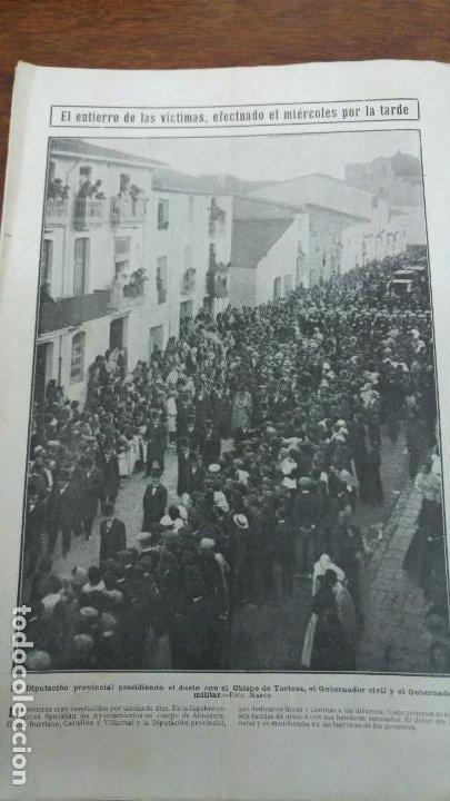 Coleccionismo de Revistas y Periódicos: 66 MUERTOS CINE VILLAREAL ABANICOS FLORES GIBRALTAR MALAGA MENENDEZ PELAYO ENTIERRO SANTANDER 1912 - Foto 2 - 194233378