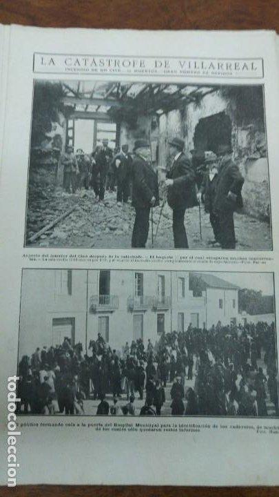 Coleccionismo de Revistas y Periódicos: 66 MUERTOS CINE VILLAREAL ABANICOS FLORES GIBRALTAR MALAGA MENENDEZ PELAYO ENTIERRO SANTANDER 1912 - Foto 3 - 194233378