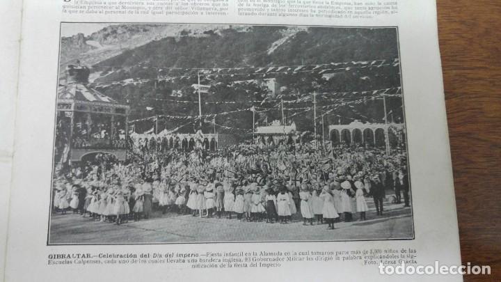 Coleccionismo de Revistas y Periódicos: 66 MUERTOS CINE VILLAREAL ABANICOS FLORES GIBRALTAR MALAGA MENENDEZ PELAYO ENTIERRO SANTANDER 1912 - Foto 6 - 194233378
