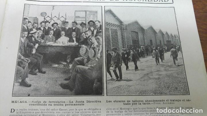 Coleccionismo de Revistas y Periódicos: 66 MUERTOS CINE VILLAREAL ABANICOS FLORES GIBRALTAR MALAGA MENENDEZ PELAYO ENTIERRO SANTANDER 1912 - Foto 7 - 194233378