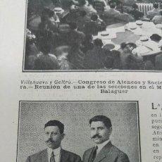 Coleccionismo de Revistas y Periódicos: JULIAN PADRO Y EMILIO PALLAS ESCAPADOS DEL NAUFRAGIO DEL TITANIC BARCELONA REVISTA AÑO 1912. Lote 194233573