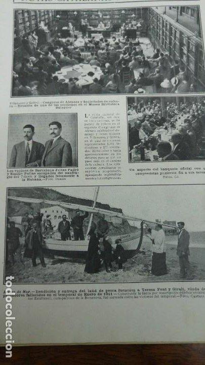 Coleccionismo de Revistas y Periódicos: JULIAN PADRO Y EMILIO PALLAS ESCAPADOS DEL NAUFRAGIO DEL TITANIC BARCELONA REVISTA AÑO 1912 - Foto 2 - 194233573