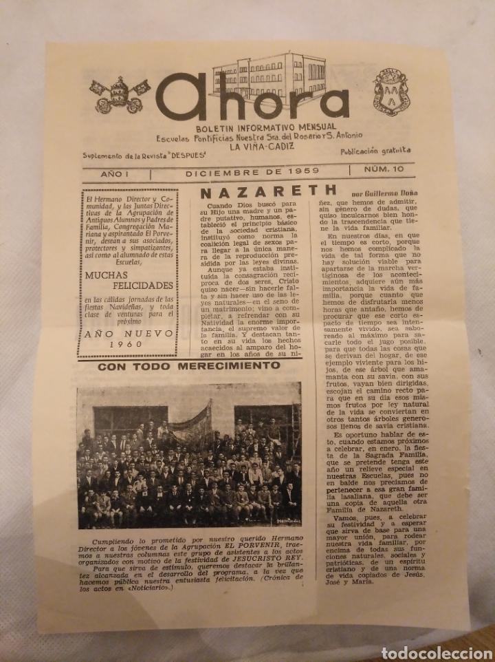 CN AHORA BOLETÍN ESCUELAS NTRA SRA ROSARIO Y SAN ANTONIO.LA VIÑA,CÁDIZ. 1959.JOSÉ FEDRIANI CONSEJERO (Coleccionismo - Revistas y Periódicos Modernos (a partir de 1.940) - Otros)