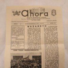Coleccionismo de Revistas y Periódicos: CN AHORA BOLETÍN ESCUELAS NTRA SRA ROSARIO Y SAN ANTONIO.LA VIÑA,CÁDIZ. 1959.JOSÉ FEDRIANI CONSEJERO. Lote 194245317