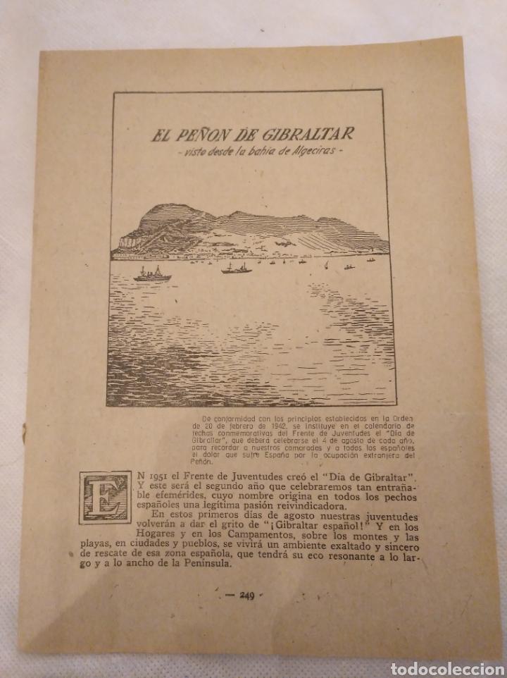 CN EL PEÑÓN DE GIBRALTAR DESDE LA BAHÍA DE ALGECIRAS. AÑO 1951. JOSÉ ANTONIO ELOLA. (Coleccionismo - Revistas y Periódicos Modernos (a partir de 1.940) - Otros)