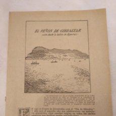 Coleccionismo de Revistas y Periódicos: CN EL PEÑÓN DE GIBRALTAR DESDE LA BAHÍA DE ALGECIRAS. AÑO 1951. JOSÉ ANTONIO ELOLA.. Lote 194246010