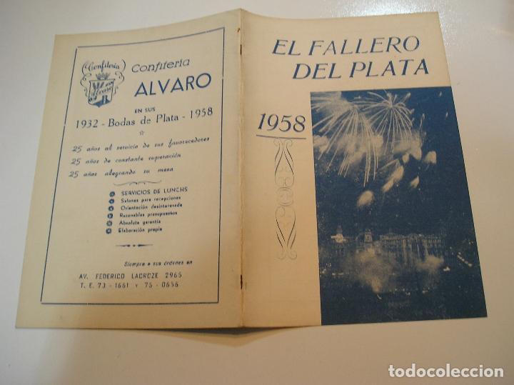 FALLA FALLAS DE VALENCIA EL FALLERO DE PLATA 1958 BUEN ESTADO FOTOS DE TODAS LAS HOJAS (Coleccionismo - Revistas y Periódicos Modernos (a partir de 1.940) - Otros)