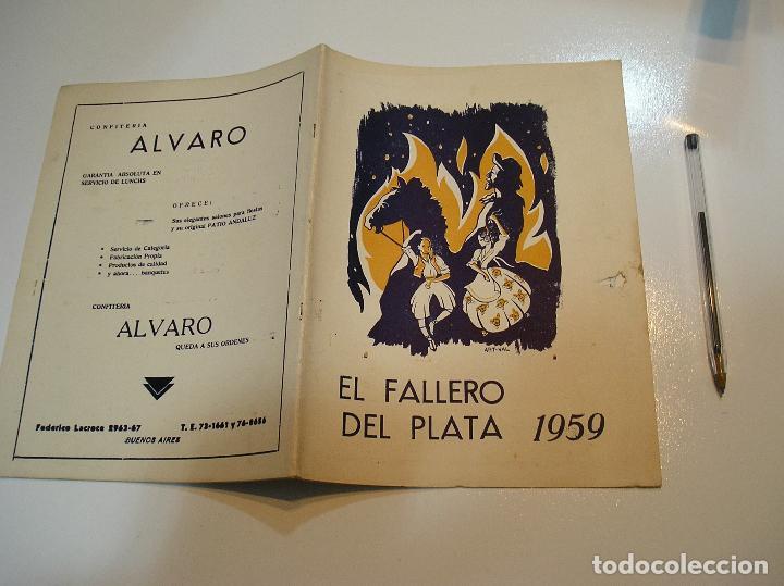 FALLA FALLAS DE VALENCIA EL FALLERO DE PLATA 1959 BUEN ESTADO FOTOS DE TODAS LAS HOJAS (Coleccionismo - Revistas y Periódicos Modernos (a partir de 1.940) - Otros)