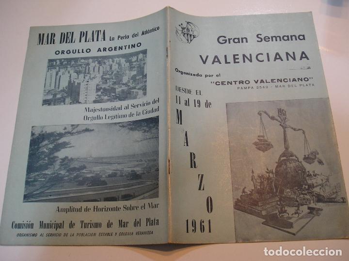 FALLA FALLAS DE VALENCIA CENTRO VALENCIANO MAR DE LA PLATA AÑO 1961 FOTO TODAS PAGINAS (Coleccionismo - Revistas y Periódicos Modernos (a partir de 1.940) - Otros)