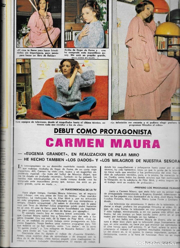 Coleccionismo de Revistas y Periódicos: REVISTA TELE RADIO Nº 951, 15-21 MARZO 1976, CLAUDIA CARDINALE, CARMEN MAURA, CAMILO SESTO - Foto 2 - 194249128