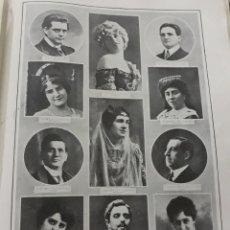 Coleccionismo de Revistas y Periódicos: PRINCIPALES ARTISTAS DE LA COMPAÑIA DEL TEATRO REAL . AÑO 1916. HOJA. Lote 194249138