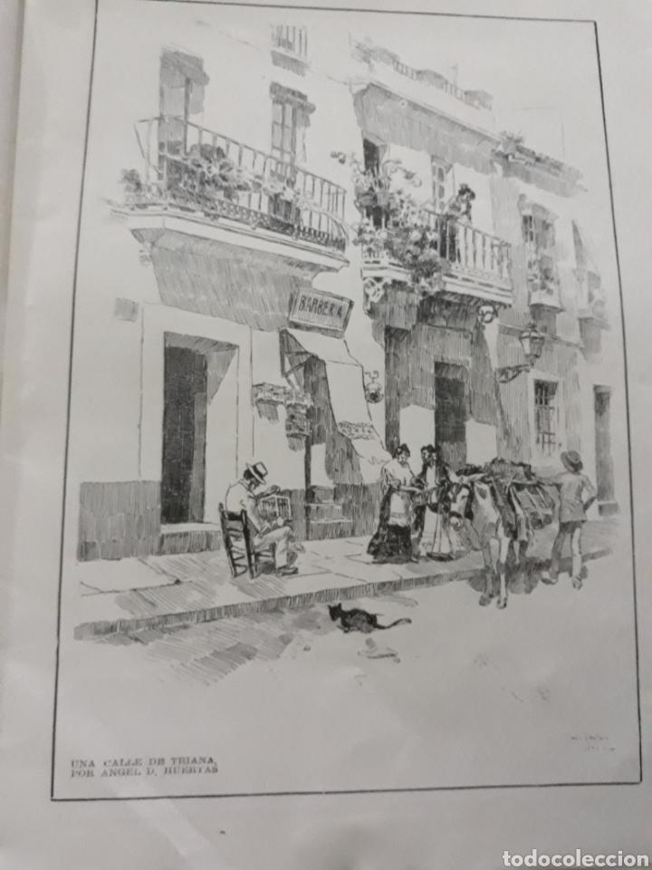 UNA CALLE DE TRIANA POR ANGEL HUERTAS . LAMINA AÑO 1916- 21X28CM (Coleccionismo - Revistas y Periódicos Antiguos (hasta 1.939))