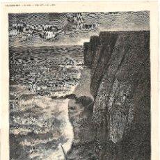 Coleccionismo de Revistas y Periódicos: CONTRABANDO GUERRA CARLISTA LA GALEA GETXO VIZCAYA. GRABADO ORIGINAL PROCEDENCIA L'ILLUSTRATION 1874. Lote 194249612