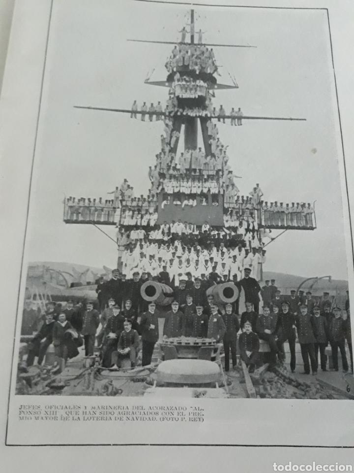 ACORAZADO ALFONSO XIII , JEFES ,OFICIALES Y MARINERÍA , AGRACIADOS CON LOTERÍA DE NAVIDAD AÑO 1916. (Coleccionismo - Revistas y Periódicos Antiguos (hasta 1.939))