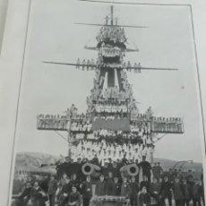 Coleccionismo de Revistas y Periódicos: ACORAZADO ALFONSO XIII , JEFES ,OFICIALES Y MARINERÍA , AGRACIADOS CON LOTERÍA DE NAVIDAD AÑO 1916.. Lote 194249988