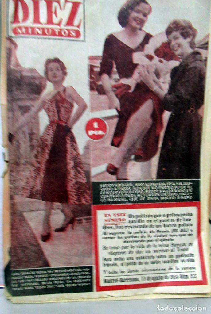 REVISTA 10 MINUTOS AÑO 1954 NUMERO 155 (Coleccionismo - Revistas y Periódicos Modernos (a partir de 1.940) - Otros)