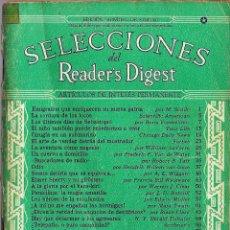 Coleccionismo de Revistas y Periódicos: SELECCIONES DEL READER DIGEST 1943 EN ESPAÑOL IMPRESO EN USA CURIOSISIMOS ANUNCIOS DE EPOCA. Lote 194258082