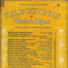 Coleccionismo de Revistas y Periódicos: SELECCIONES DEL READER DIGEST 1944 EN ESPAÑOL IMPRESO EN USA CURIOSISIMOS ANUNCIOS DE EPOCA. Lote 194258422