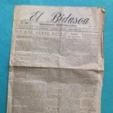 Coleccionismo de Revistas y Periódicos: EL BIDASOA. DIARIO INDEPENDIENTE. IRÚN 6 DE NOVIEMBRE DE 1927. 4 PÁGINAS.. Lote 194266293