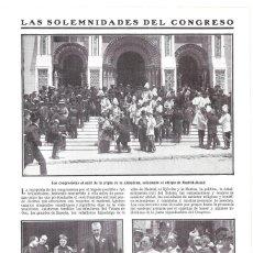 Coleccionismo de Revistas y Periódicos: 1911 HOJA REVISTA MADRID CONGRESO EUCARÍSTICO INTERNACIONAL CRIPTA ALMUDENA OBISPO DE MADRID-ALCALÁ . Lote 194266967