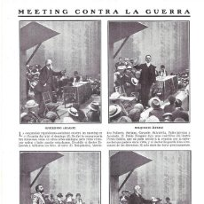 Coleccionismo de Revistas y Periódicos: 1911 HOJA REVIST MADRID MITIN REPUBLICANO SOCIALISTA CONTRA LA GUERRA PABLO IGLESIAS, AZCÁRATE, MELQ. Lote 194267968