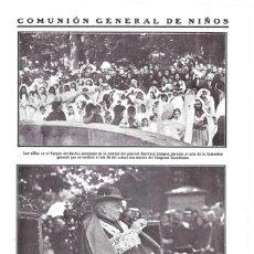 Coleccionismo de Revistas y Periódicos: 1911 HOJA REVISTA MADRID PARQUE RETIRO CONGRESO EUCARÍSTICO CARDENAL AGUIRRE COMUNIÓN GENERAL NIÑOS. Lote 194268601