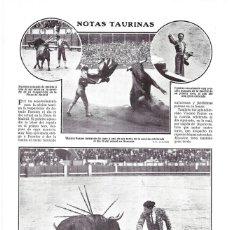 Coleccionismo de Revistas y Periódicos: 1911 HOJA REVISTA PLAZA DE TOROS TOREROS - MADRID ANTONIO FUENTES, MANOLETE - GRANADA VICENTE PASTOR. Lote 194269027