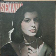 Coleccionismo de Revistas y Periódicos: REVISTA SEMANA Nº 803 1955 ROSA MARÍA CARUNCHO DE MOLINA. MISS EUROPA. GRACE KELLY. Lote 194276661